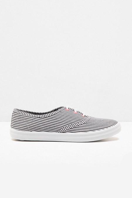 Koton Lacivert Mavi Çizgili Bağcıklı Ayakkabı