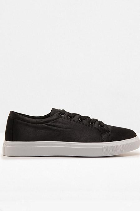 Koton Siyah Bağcıklı Ayakkabı