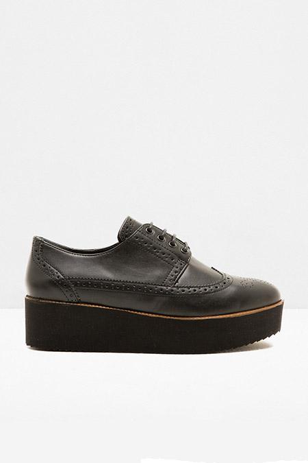 Koton Siyah Bağcıklı Loafer Ayakkabı