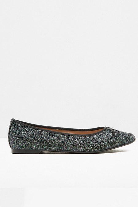 Koton Yeşil Simli Detaylı Ayakkabı