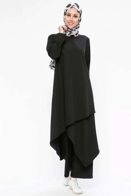Neways Siyah Tunik&Pantolon İkili Takım