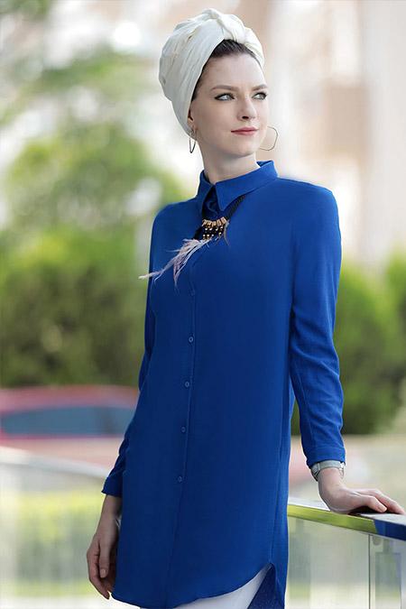 Selma Sarı Design Saks Freş Tunik