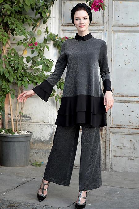 Selma Sarı Design Siyah Ebrar İkili Takım