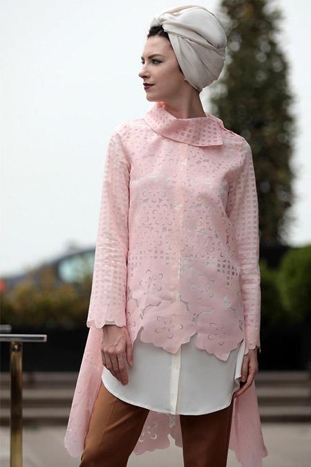 Selma Sarı Design Pudra Ekru Favori İkili Tunik Takım
