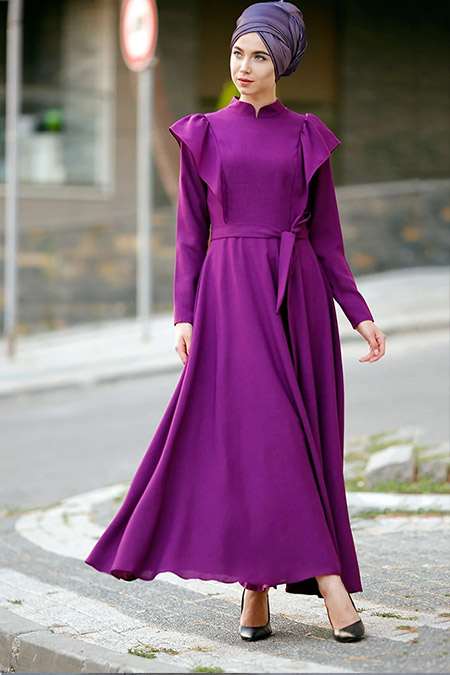 Zehrace Mürdüm Volanlı Elbise