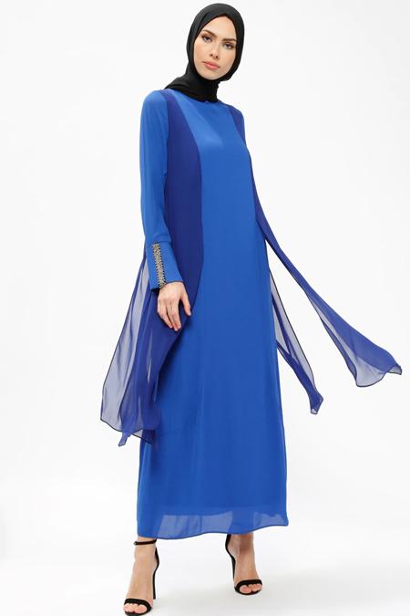 Armine Saks Taş Detaylı Elbise