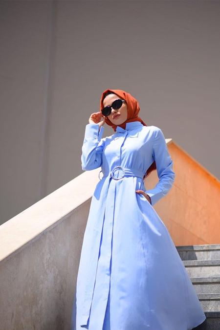 Atolyestil Açık Mavi Elbise