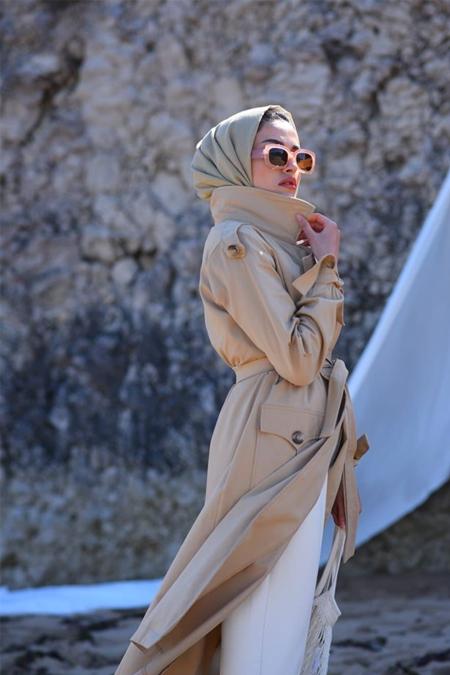 Elif ESER Camel Trençkot