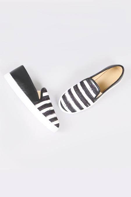 Enbimoda Siyah Sneaker Kadın Ayakkabı