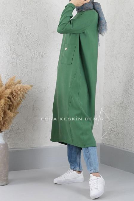 Esra Keskin Demir Yeşil Mia Tunik