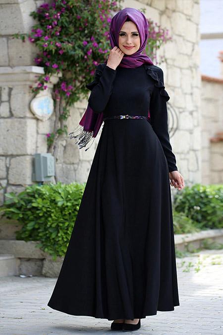 Gizem Kış Siyah Efsun Elbise