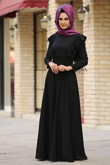 Gizem Kış Siyah Rüya Elbise