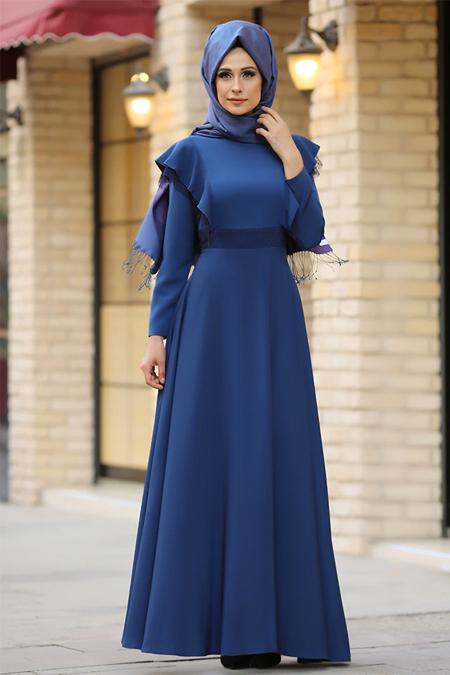 Gizem Kış İndigo Rüya Elbise