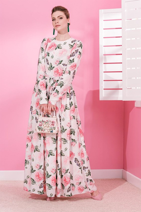 MİHA Pudra Kelebekli Elbise