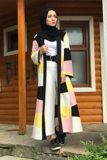 Milena Creation Kahverengi Kaşorse Kimono