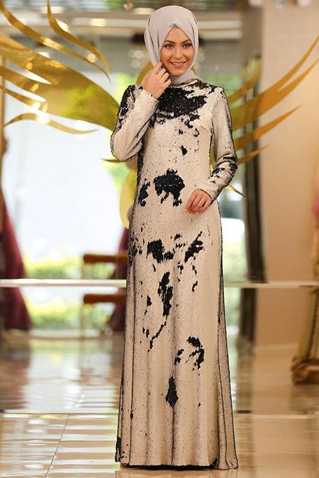 Minel Aşk Siyah Pera Elbise