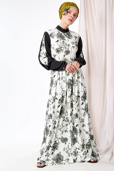 MisCats Haki Desenli Elbise