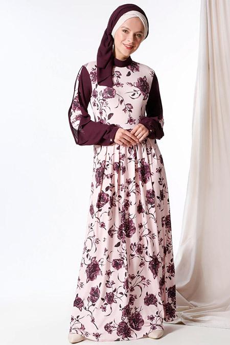 MisCats Pudra Desenli Elbise