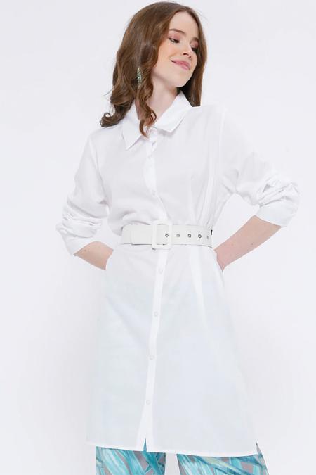 Missemramiss Beyaz Düğmeli Tunik