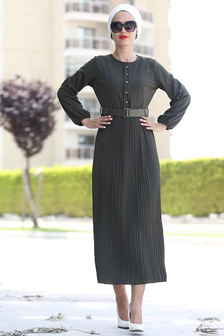 Myzen Haki Piliseli Miray Elbise