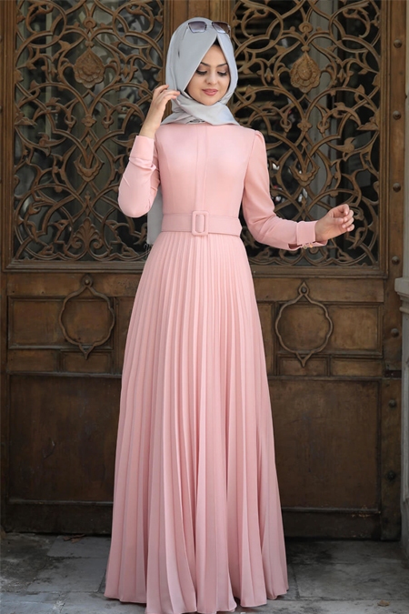 Pınar Şems Pudra Piliseli Elbise