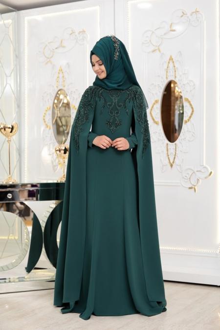 Pınar Şems Yeşil Asya Abiye