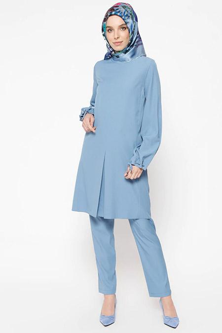 Puane Mavi Tunik&Pantolon İkili Takım