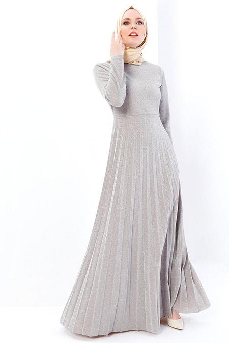 Refka Vizon Simli Abiye Elbise