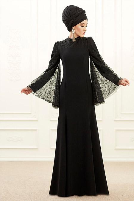 An-Nahar Siyah Mina Abiye Elbise