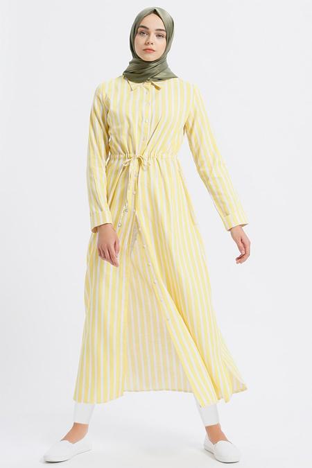 22c4639ed1070 Benin Sarı Çizgili Tunik Online Satış, İndirimli Satın Al
