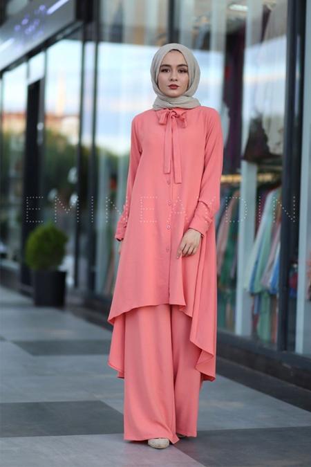 EMİNE AYDIN Turuncu Elbise