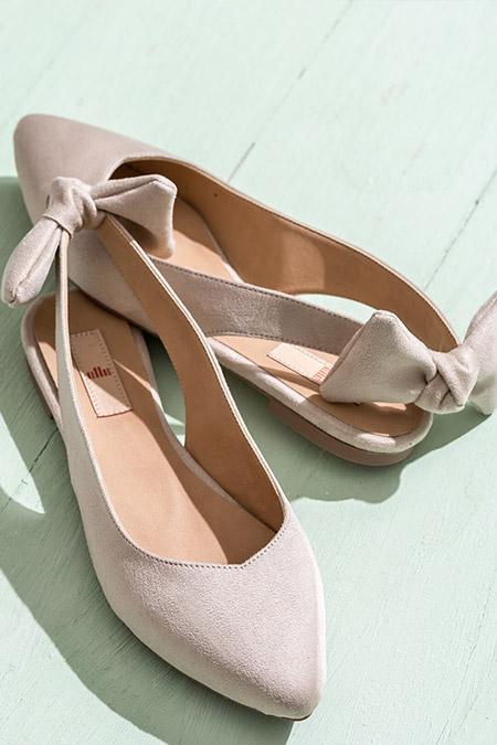 Elle Shoes Bej Kadın Babet