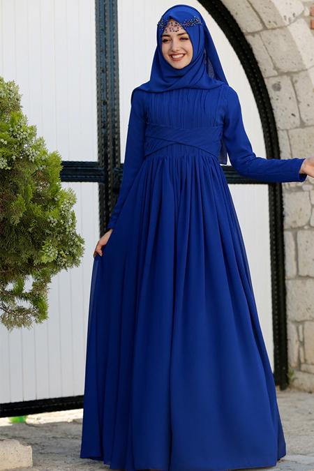 Gamze Özkul Saks Henna Abiye Elbise