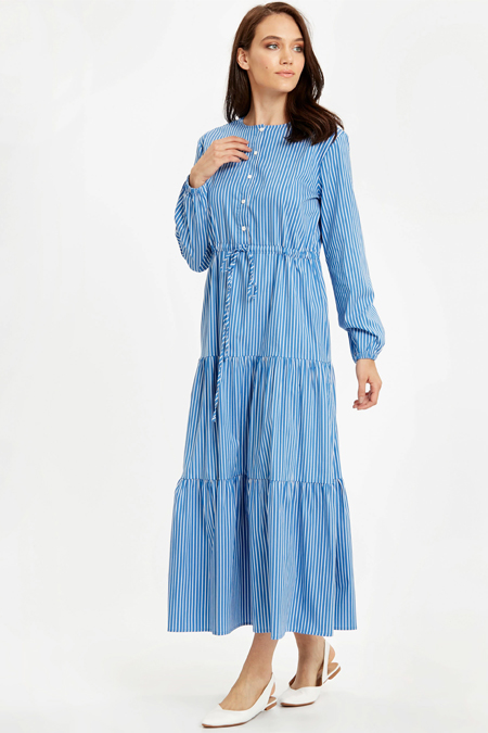 LC WAIKIKI Mavi Elbise