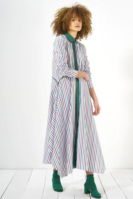 Mevra Karışık Renkli Nisan Elbise