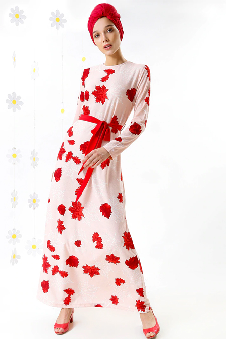 MisCats Pembe Desenli Elbise