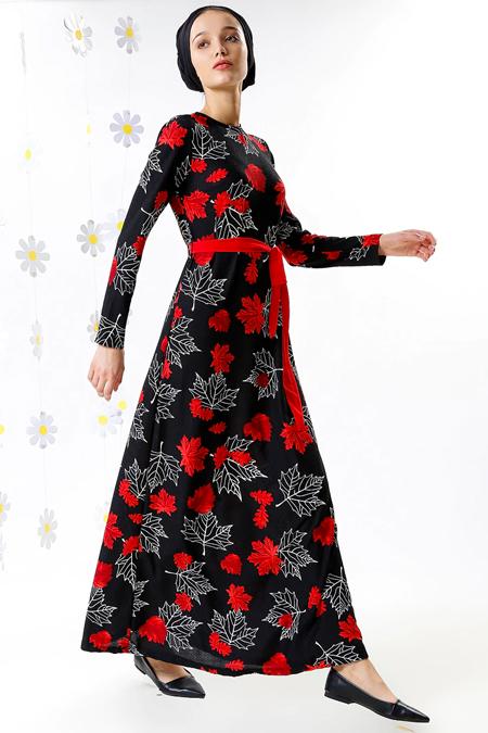 MisCats Siyah Desenli Elbise