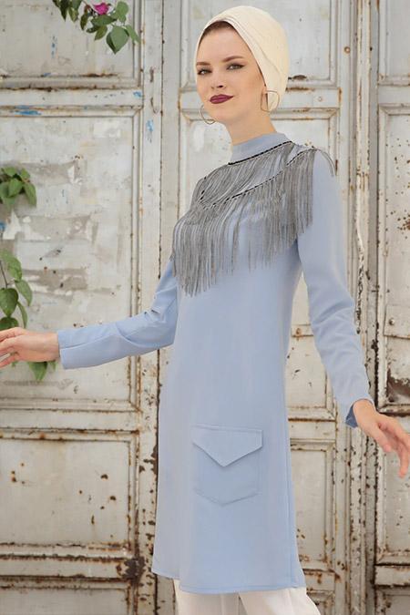 Selma Sarı Design Bebe Mavi Pendulum Tunik