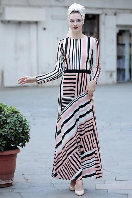Selma Sarı Design Pembe Şifa Elbise