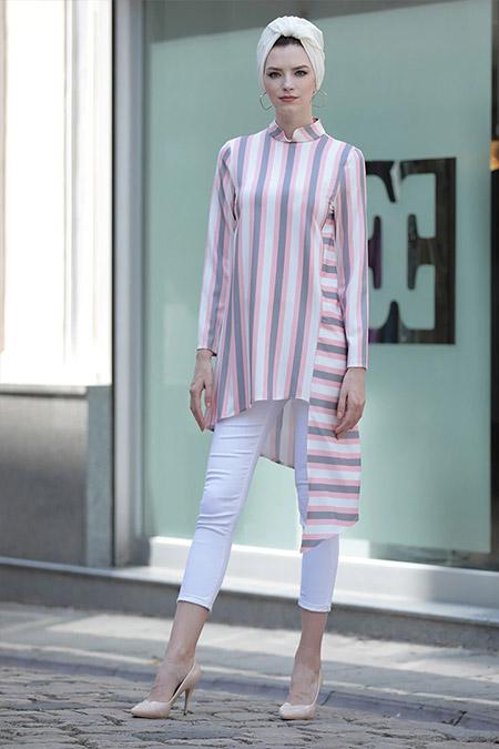 Selma Sarı Design Pudra Lady Tunik