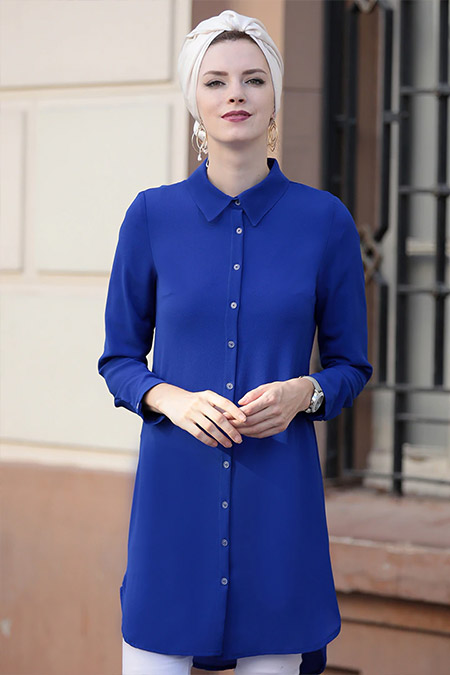 Selma Sarı Design Saks Basic Tunik