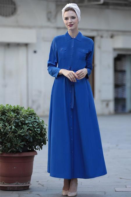 Selma Sarı Design Saks Cepli Spor Elbise