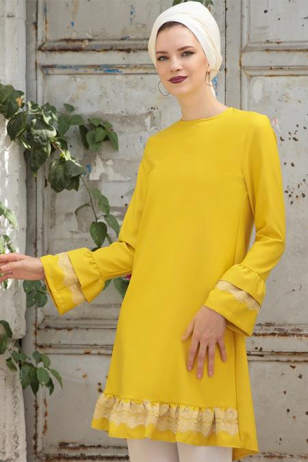 Selma Sarı Design Sarı Seyma Tunik