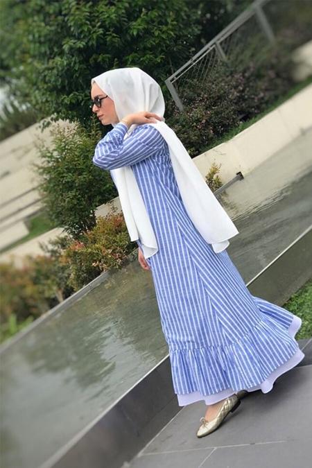 Zifozi Açık Mavi Elbise