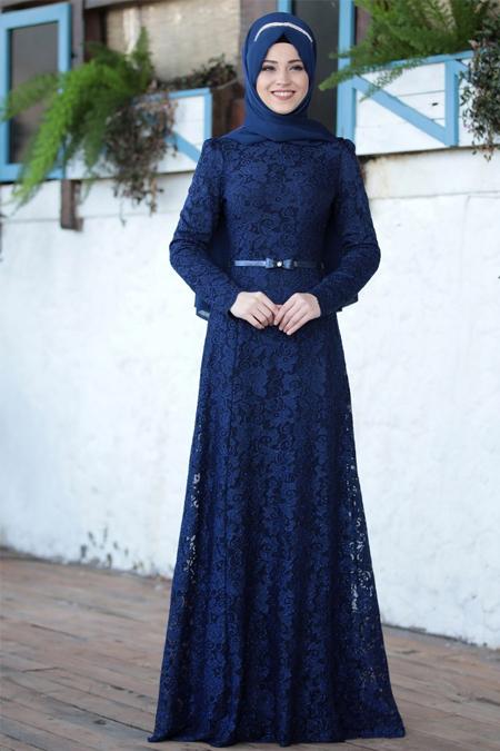 Al-Marah Saks Işıl Abiye Elbise