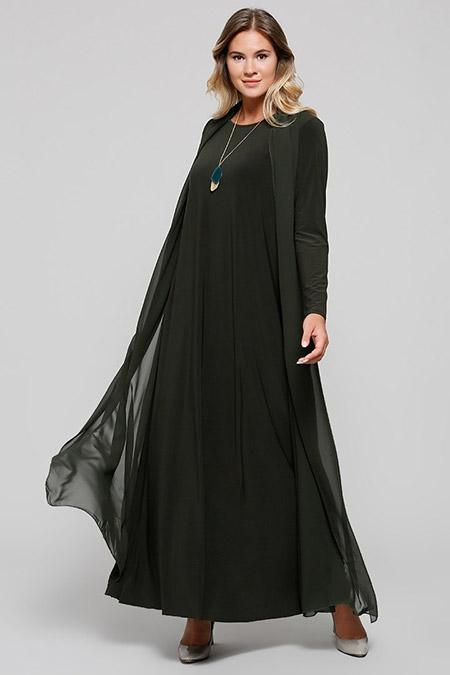 Alia Haki Şifon Parçalı Abiye Elbise