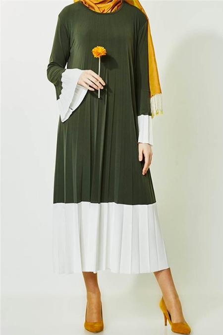 Butik Melina Yeşil Elbise