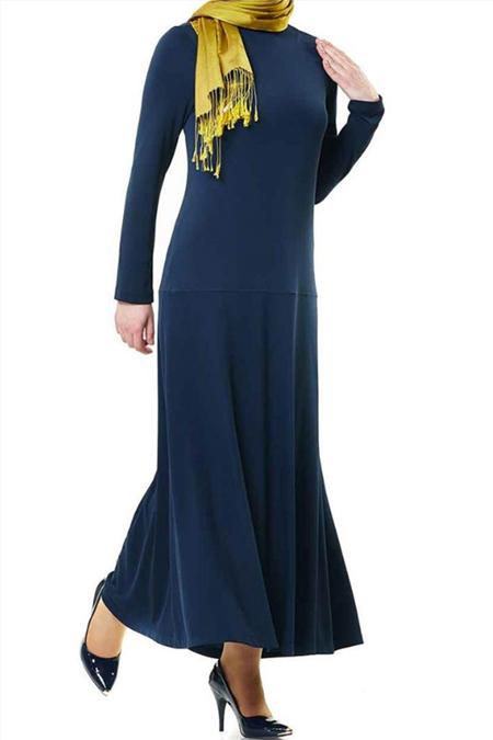 Kayra Lacivert Elbise