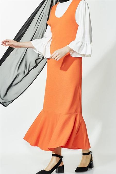 Kyl Collection Turuncu Elbise