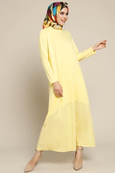 Refka Sarı Garnili Elbise